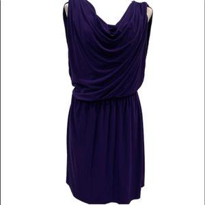 Jones Wear Dress purple silky midi dress